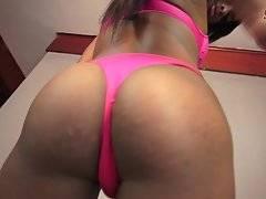 Bruna Santana Strokes Her Big Dick